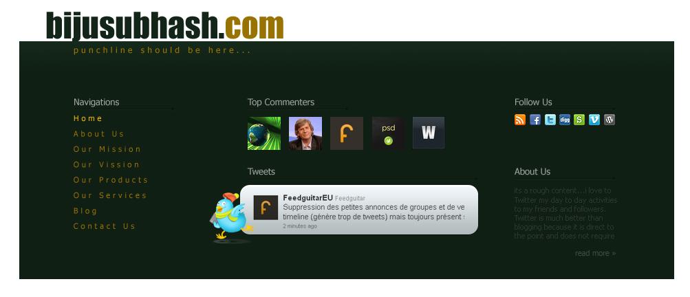 website footer design template psd