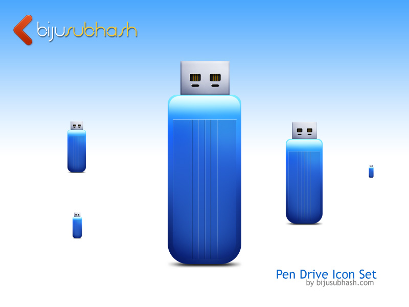 pen_drive icon set-psd