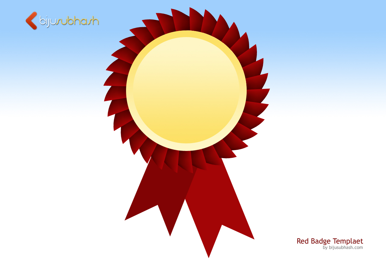 red badge template