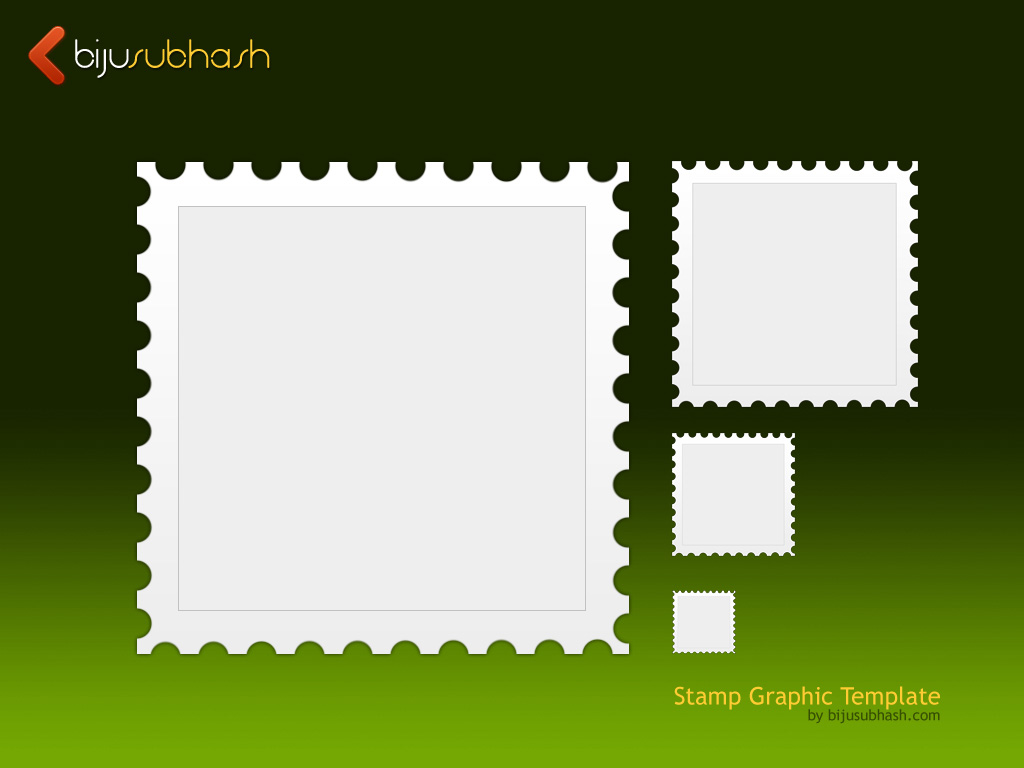 Stamp Graphic Template (PSD)