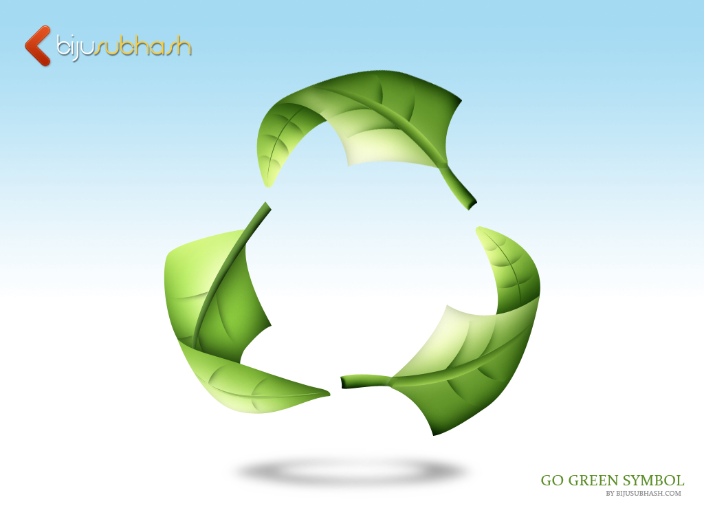 Go Green Graphic Symbol