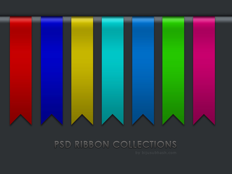 PSD Ribbon Collections for Web