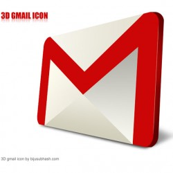 3D Gmail Icon