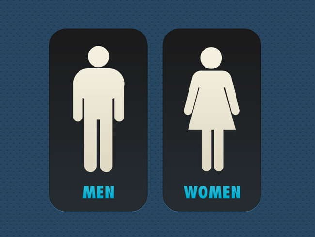 Restroom – toilet sign