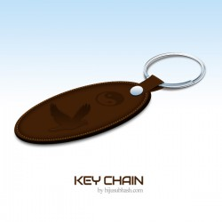 Leather Key Chain - PSD